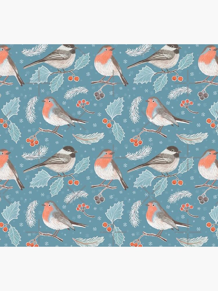 Winter Birds by nadyanadya