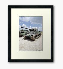 WW2 Sherman Tank Framed Print