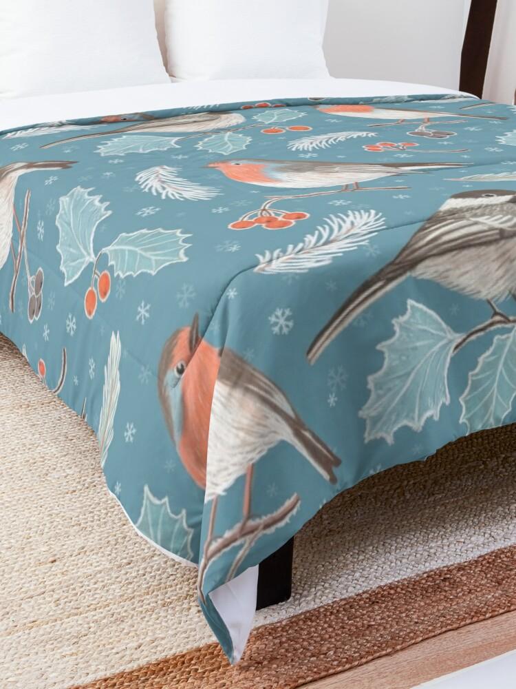 Alternate view of Winter Birds Comforter