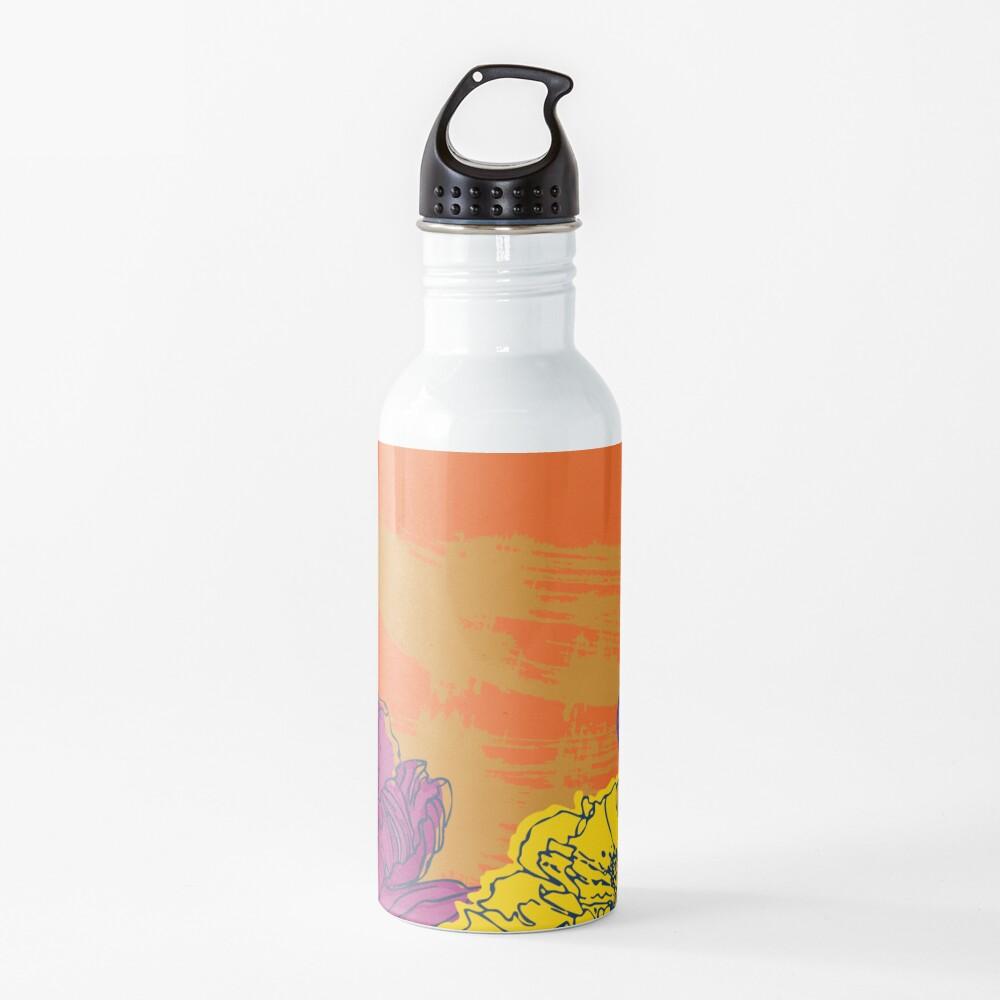 Autumn Flowers Water Bottle