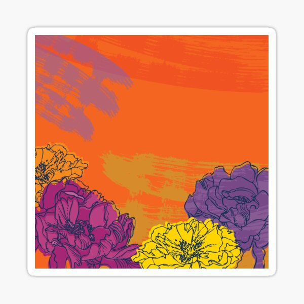 Autumn Flowers Sticker