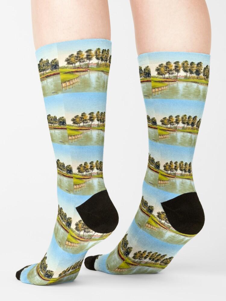 Alternate view of Sawgrass Golf Course Hole 17 Socks