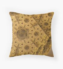 Sandy dodecahedral gasket Throw Pillow