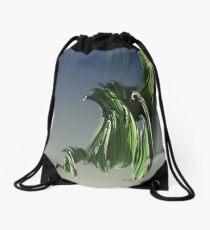 Grassy spiral Drawstring Bag