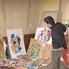 Me, my mess and eyes...Studio of Bernard Lacoque by ArtLacoque