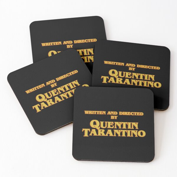 Written and Directed by Quentin Tarantino Coasters (Set of 4)