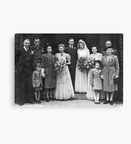 Dorothy And George Wedding Canvas Print