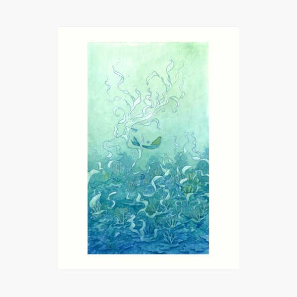 Immersed In Blue Art Print