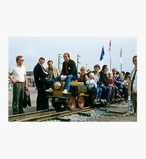 First electric train, Bochum, Germany, 1985. Photographic Print