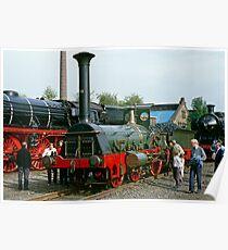 """Die Pfalz"" steam locomotive, Germany Poster"