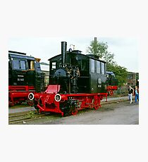 Steam locomotives at Bochum, 1985. Photographic Print