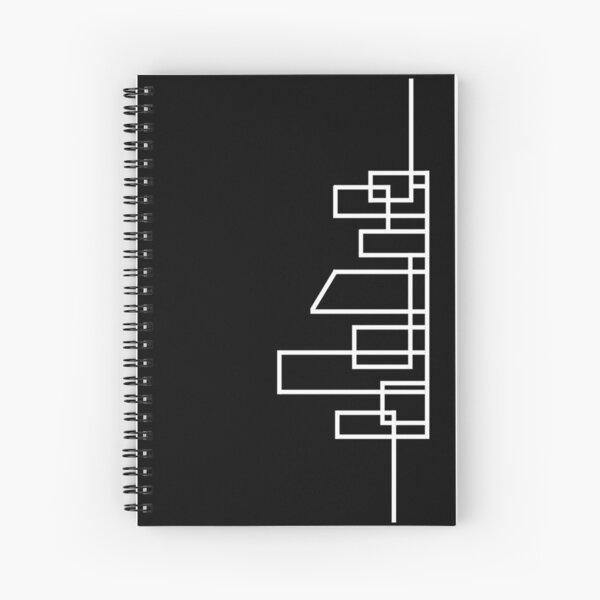 DDA Skyline (Vertical/White) Spiral Notebook