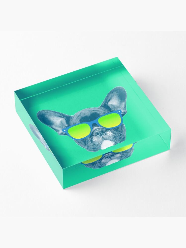 Alternate view of Cool Dog wearing Sunglasses Acrylic Block