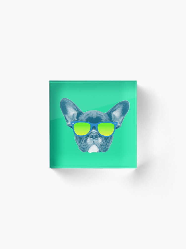 Alternate view of Cool Dog wearing Sunglasses Acrylic Block