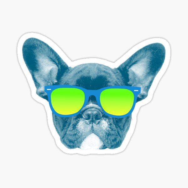 Cool Dog wearing Sunglasses Sticker