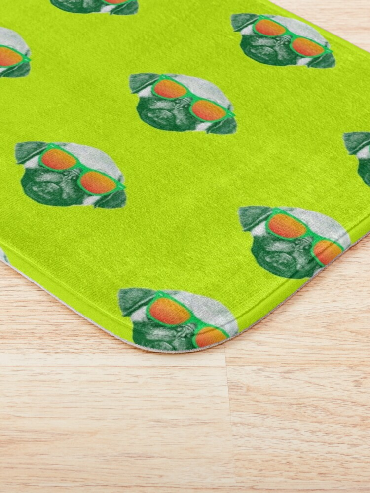 Alternate view of Funny Dog with Sunglasses Bath Mat