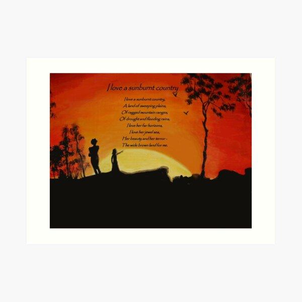 I love a sunburnt country Art Print