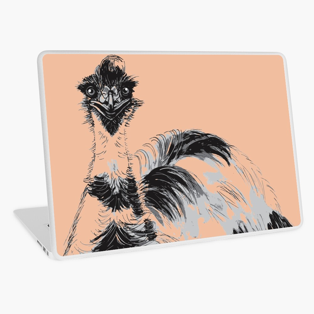 Emu Black and White Laptop Skin