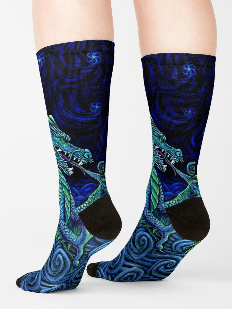 Alternate view of Chinese Azure Dragon Socks