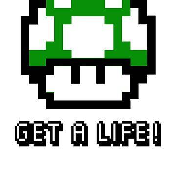 Mario Mushroom Get A Life by astropop