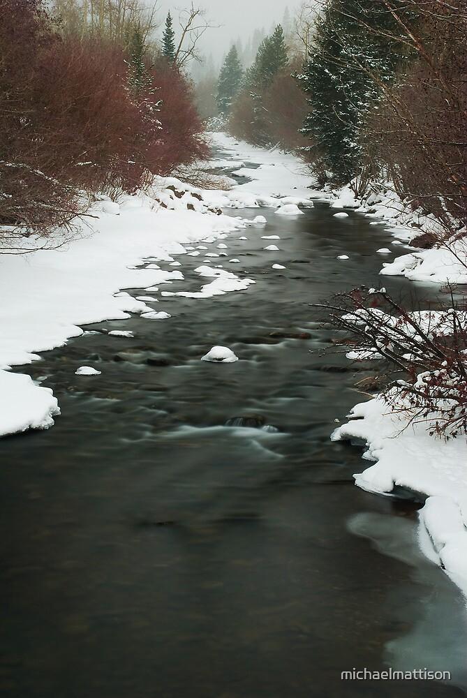 Winter River by michaelmattison