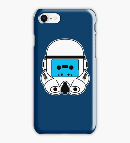 Cassette Trooper - Blue iPhone Case/Skin