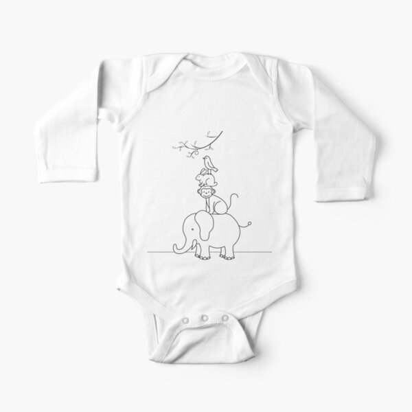 Yoga Llama Omm Long Sleeve Natural Organic Baby Onesie Outfits Gift for Infant Boys Girls