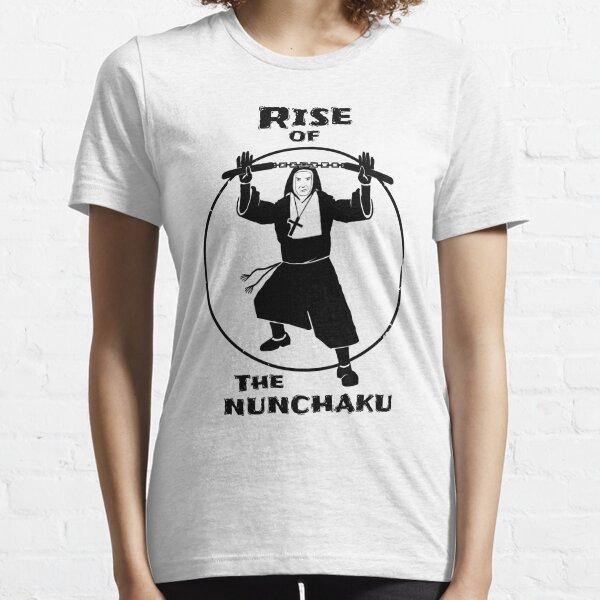Rise Of The Nunchaku Nun Funny Martial Arts Pun Essential T-Shirt