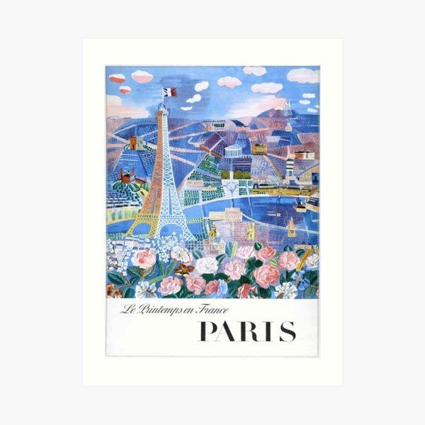 1966 Raoul Dufy Le Printemps en France - Paris Travel Poster Art Print
