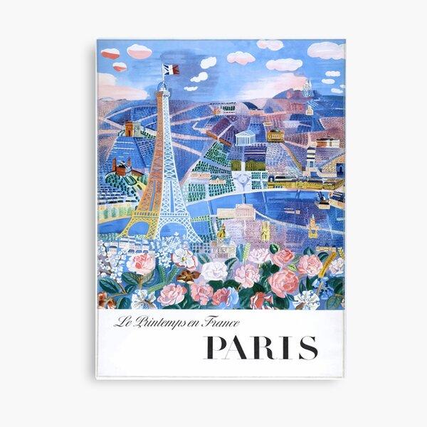 1966 Raoul Dufy Le Printemps en France - Paris Travel Poster Canvas Print