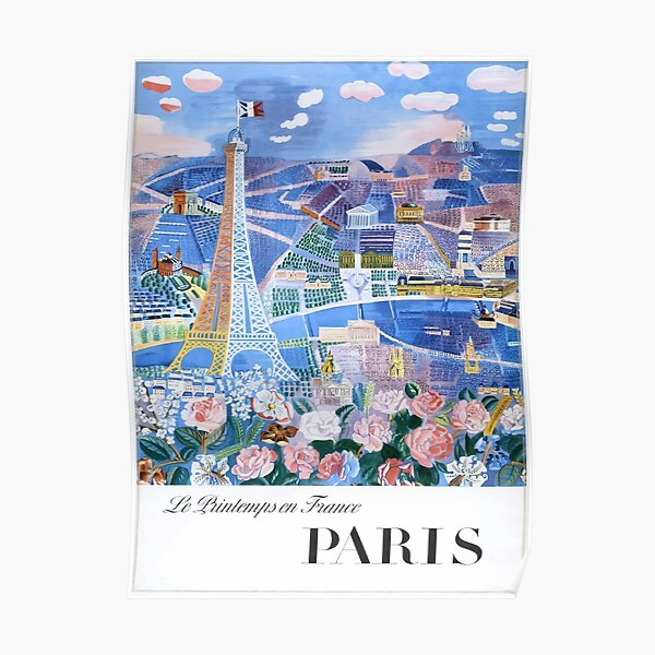 1966 Raoul Dufy Le Printemps en France - Paris Travel Poster Poster