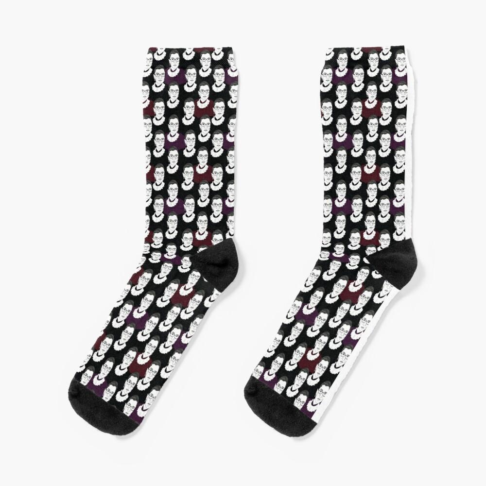 Ruth Bader Ginsburg Pattern Socks