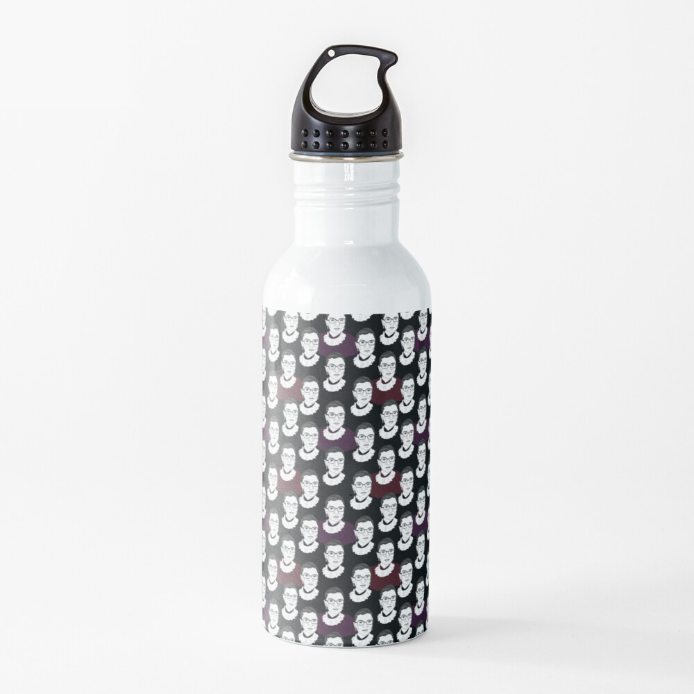 Ruth Bader Ginsburg Pattern Water Bottle