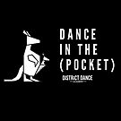 """Dance In The Pocket"" DDA Logo (White) by districtdance"
