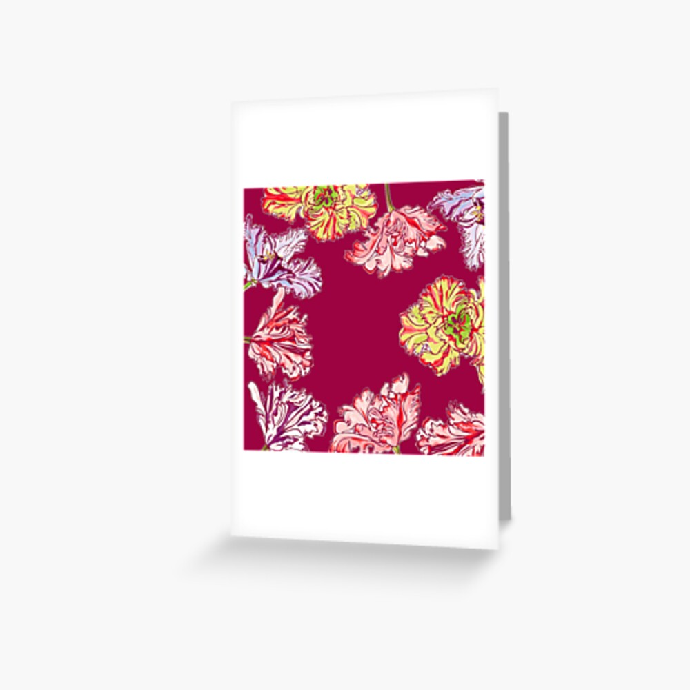 Colorful Tulips Greeting Card
