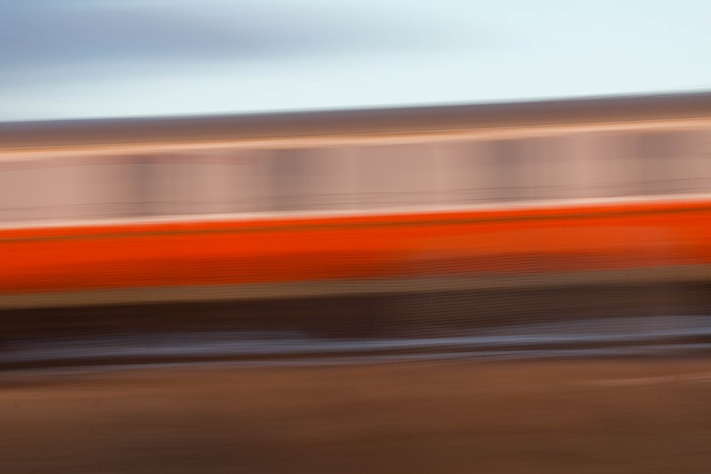 Train Going By by Lynn Wiles