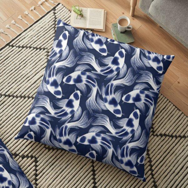 Shibori Koi Fish Floor Pillow