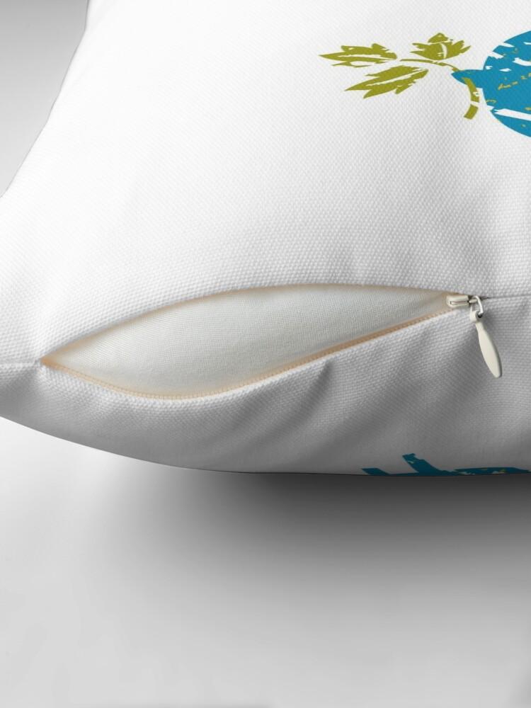 Alternate view of Blue Bird Throw Pillow