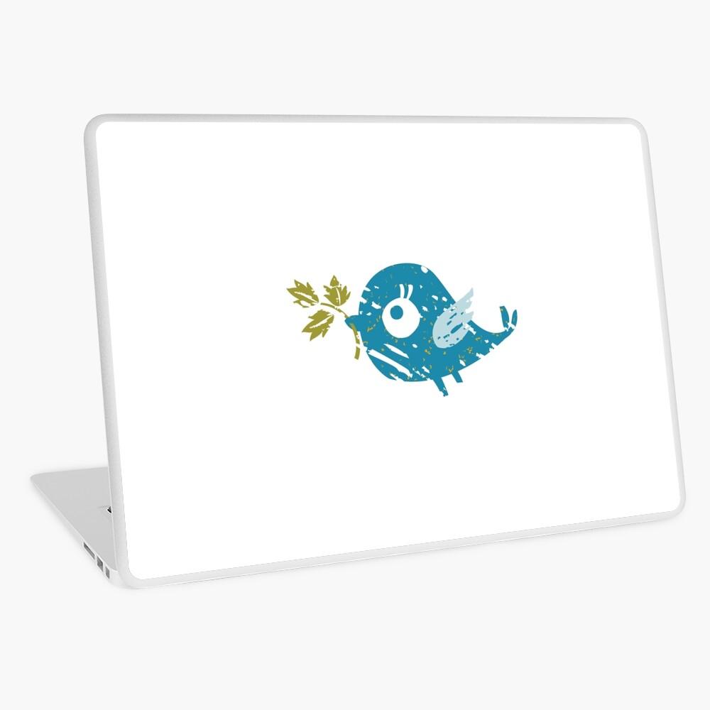 Blue Bird Laptop Skin
