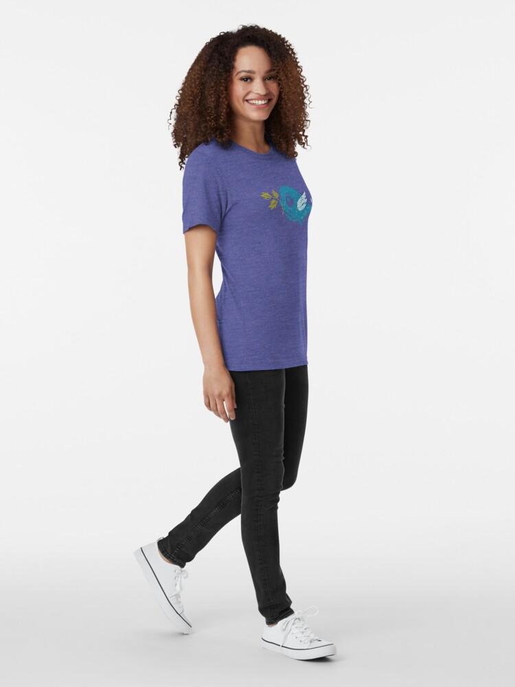 Alternate view of Blue Bird Tri-blend T-Shirt