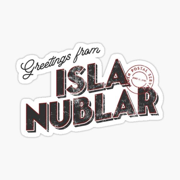 Greetings from Isla Nublar Sticker