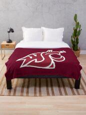 The Washington State Cougars Throw Blanket