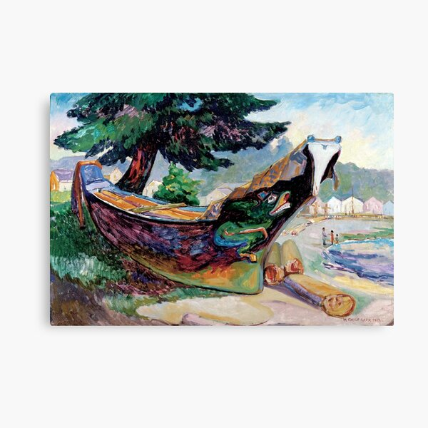 Emily Carr - Indian War Canoe, Alert Bay Canvas Print
