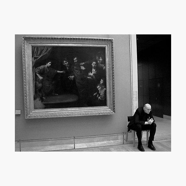 At the Louvre, Paris 2008 Photographic Print