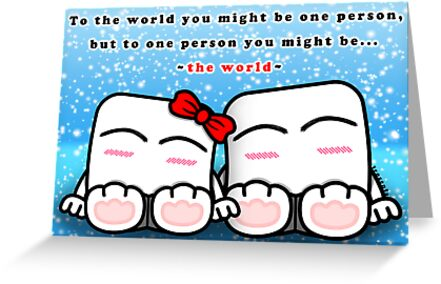 You mean the world to me greeting cards by frozenfa redbubble you mean the world to me by frozenfa m4hsunfo