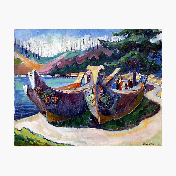 Emily Carr - War Canoes, Alert Bay Photographic Print