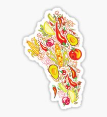 Mexican Salad Glossy Sticker
