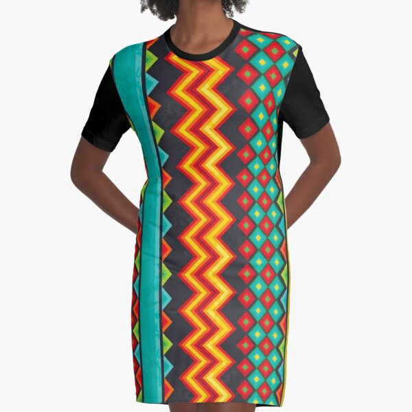 Mexican Mood Graphic T-Shirt Dress
