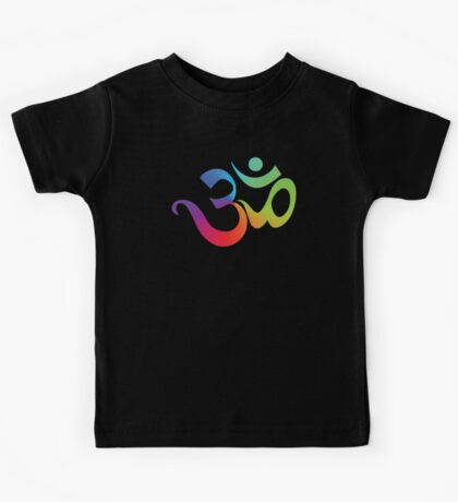 Yoga Om Symbol T-Shirt Kids Clothes