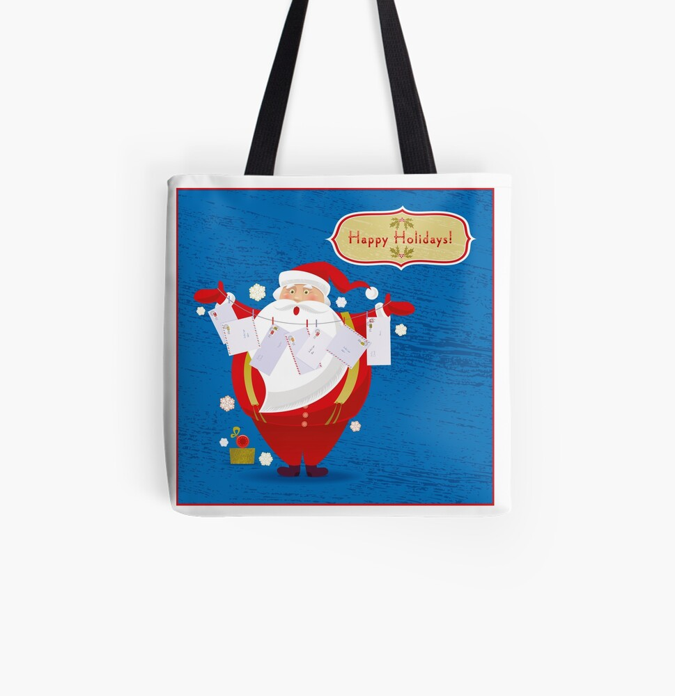 Happy Holidays! All Over Print Tote Bag